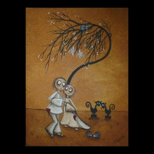 We Could Have Danced .. A Whimsical Creeper Art Painting