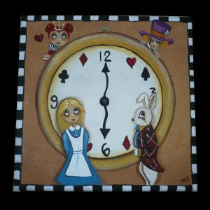 alice in wonderland painting we're late